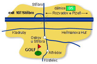 Mapa golf Alfrédov